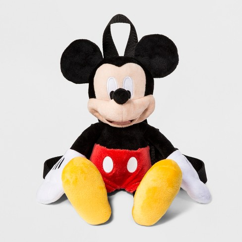 Toddler Boys' Disney Mickey Mouse & Friends Mickey Mouse Plush Backpack - Black - image 1 of 2