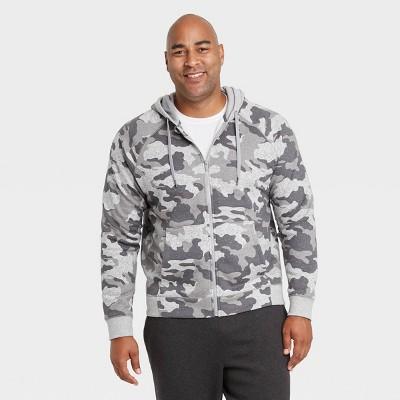 Men's Fleece Full Zip Hoodie Sweatshirt - All in Motion™