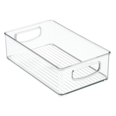 Storage Bins 3pk Clear - InterDesign - image 1 of 4