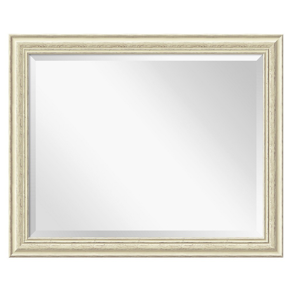 32 34 X 26 34 Country White Wash Framed Wall Mirror Amanti Art