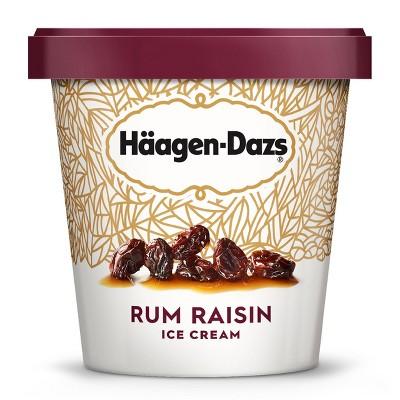 Haagen-Dazs Rum Raisin Ice Cream - 14oz