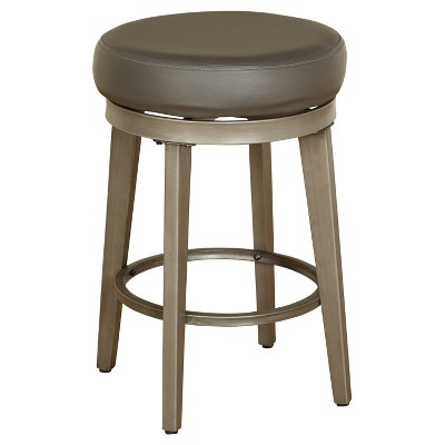 2pc Linden Swivel Counter Height Barstools - angelo:HOME