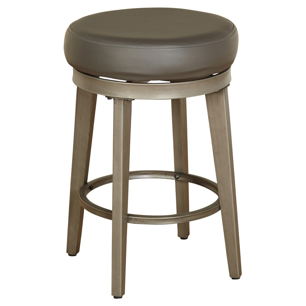 "Image of ""Set of 2 24"""" Linden Swivel Stool Gray - Angelo:Home"""