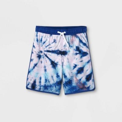 Boys' Tie-Dye Swim Trunks - art class™ Blue