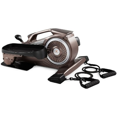 Marcy NS-1009 Bionic Body Compact Elliptical Trainer with Resistance Tubes for Home Gym or Under Office Desk Strength Training