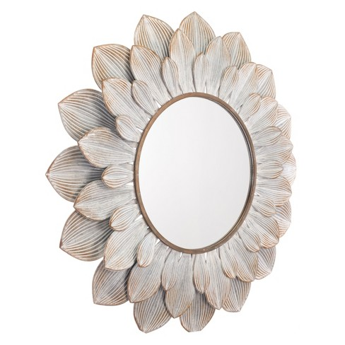 "ZM Home 39"" Classic Starburst Mirror Distressed Brown - image 1 of 2"