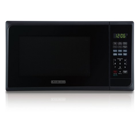 BLACK+DECKER 1.1 cu ft 1000W Microwave Oven - Stainless Steel Black - image 1 of 4