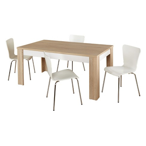 Mandy Dining Set Natural/White 5 Piece - TMS - image 1 of 2