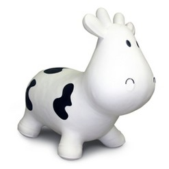 Hedstrom Cow Bouncer Ride on - White/Black, Blue