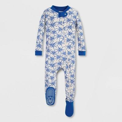 Burt's Bees Baby® Icy Snowflake Organic Cotton Footed Pajama - Blue/White 0-3M
