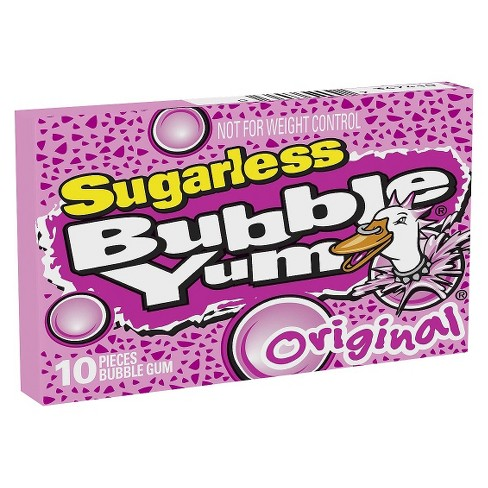 Bubble Yum Original Sugarless Bubble Gum - 10ct - image 1 of 4