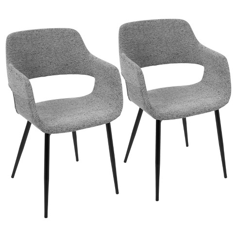Set of 2 Margarite Mid Century Modern Dining, Accent Chair - LumiSource - image 1 of 4