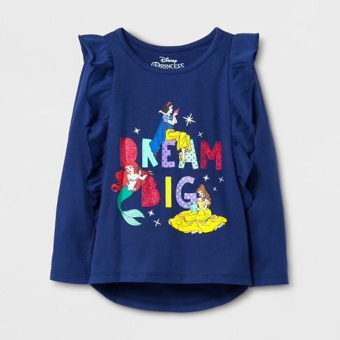 a9f7817b Toddler Girls' Disney® Princess Long Sleeve T-Shirt - Navy : Target