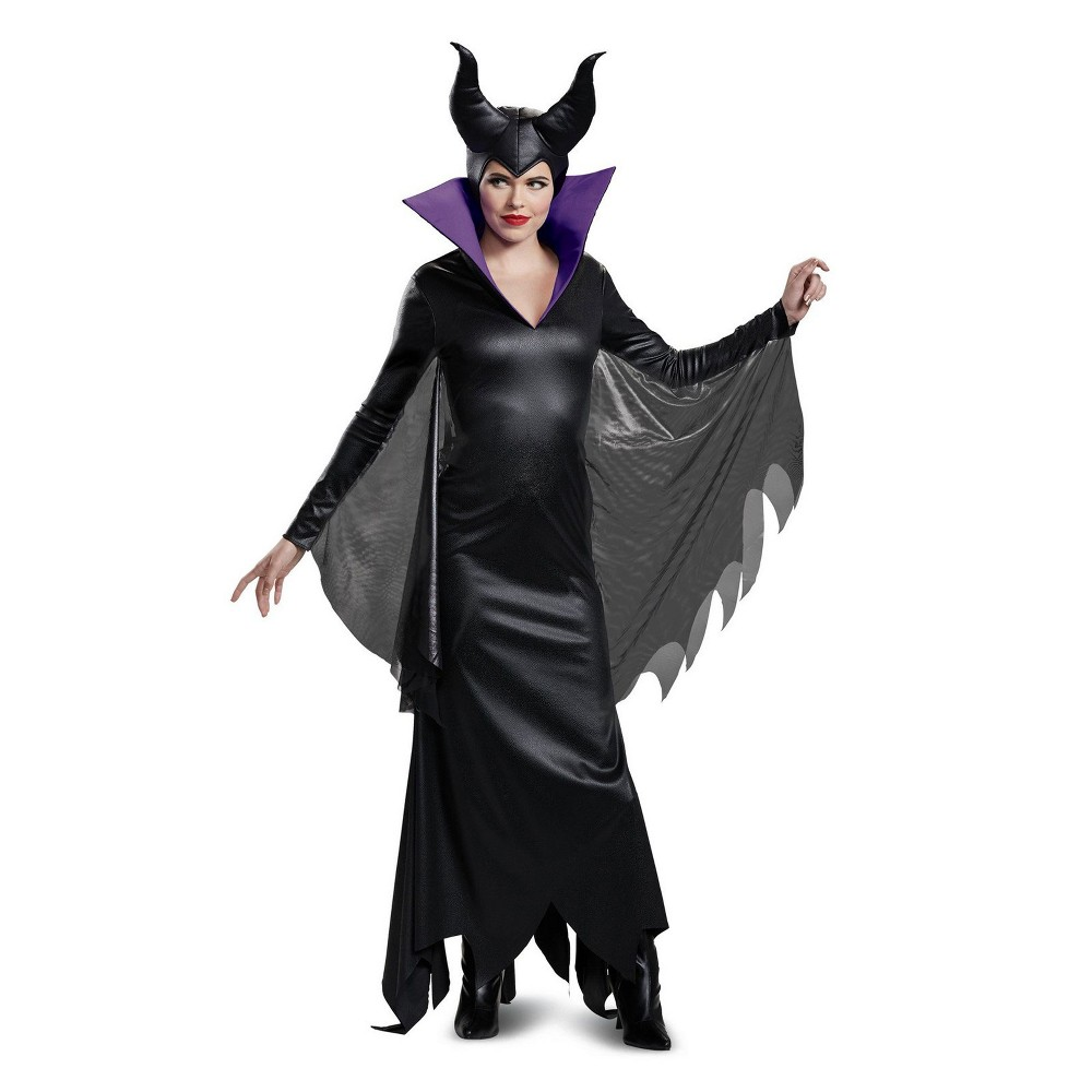 Disney Villains Women's Maleficent Deluxe Halloween Costume S - Disguise, Black