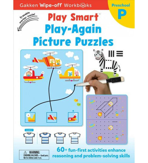 Play Smart Play Again Picture Puzzles -  by Gakken Early Childhood Experts (Hardcover) - image 1 of 1