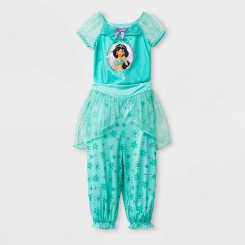 Toddler Girls' Disney Princess Fantasy Jasmine 2pc Pajama Set - Aqua - image 1 of 1