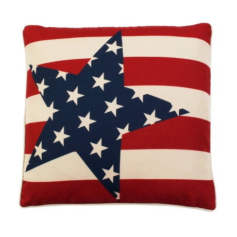 """Dcor Therapy 20""""x20"""" Stars And Stripes Throw Pillow Red - image 1 of 6"""