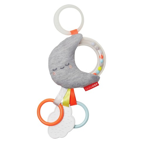 Skip Hop Silver Lining Cloud Rattle Moon Stroller Baby Toy - image 1 of 4