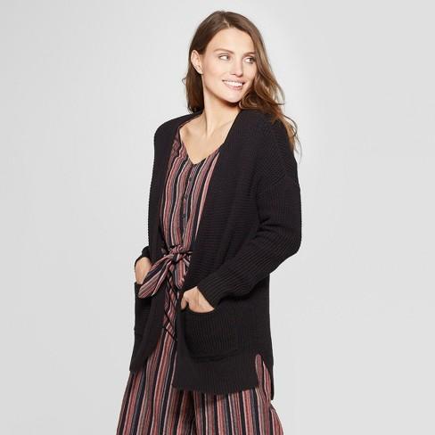 29e0518c23891 Women's Open Layering Side Slit Cardigan - Universal Thread™ S Black :  Target