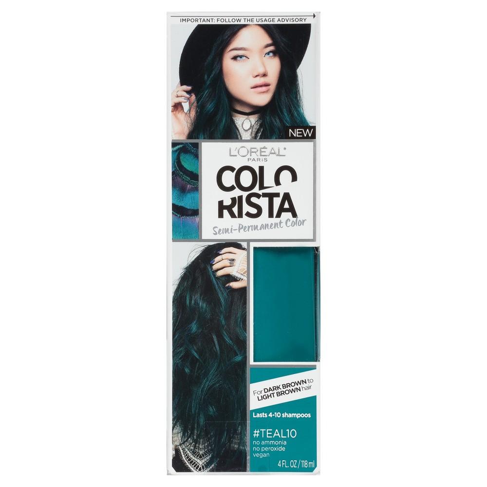 L Oreal Paris Colorista Semi Permanent For Brunette Hair Teal 4 Fl Oz