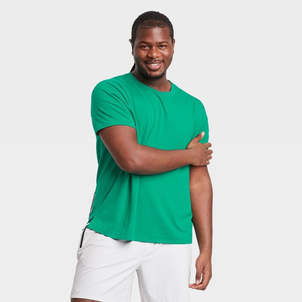 Men 39 S Short Sleeve Performance T Shirt All In Motion 8482 Bright Green Xl