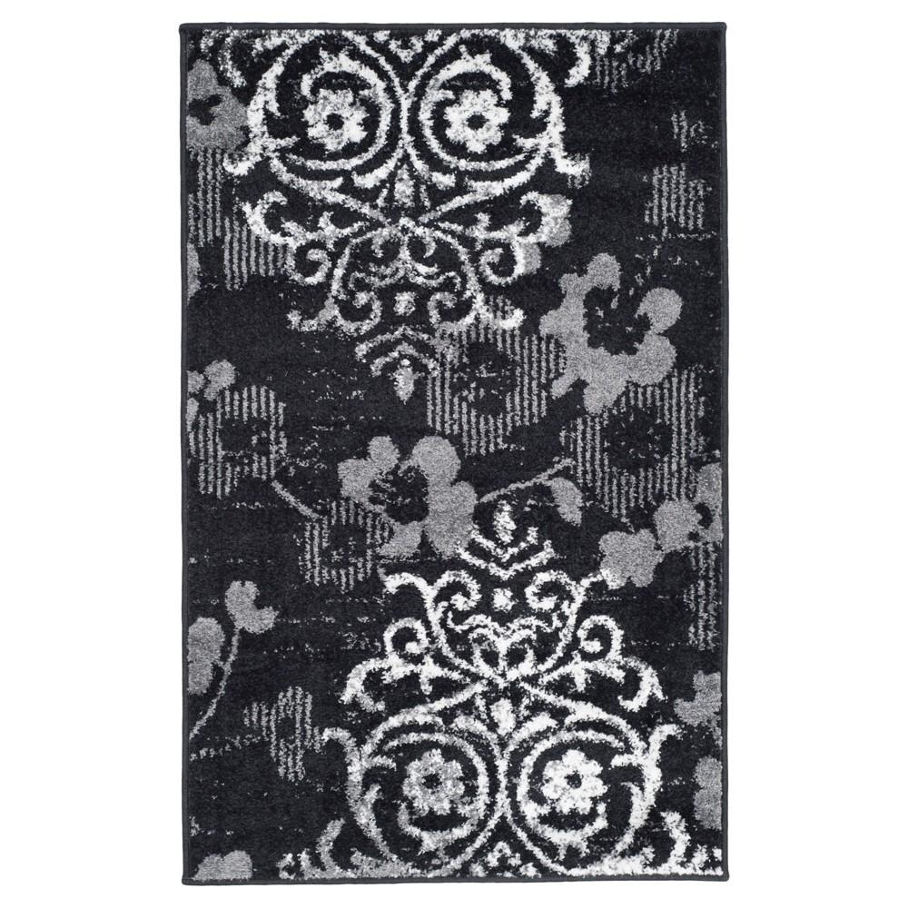 Norwel Accent Rug - Black/Silver (2'6x4') - Safavieh