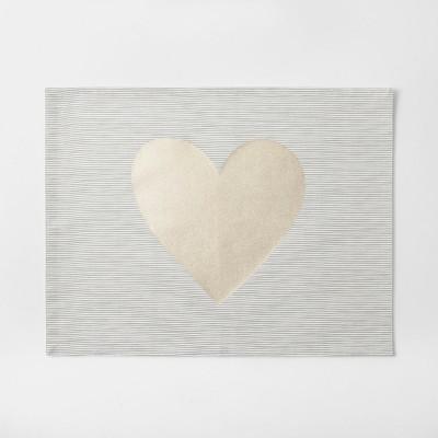 Cream Metallic Heart Placemat