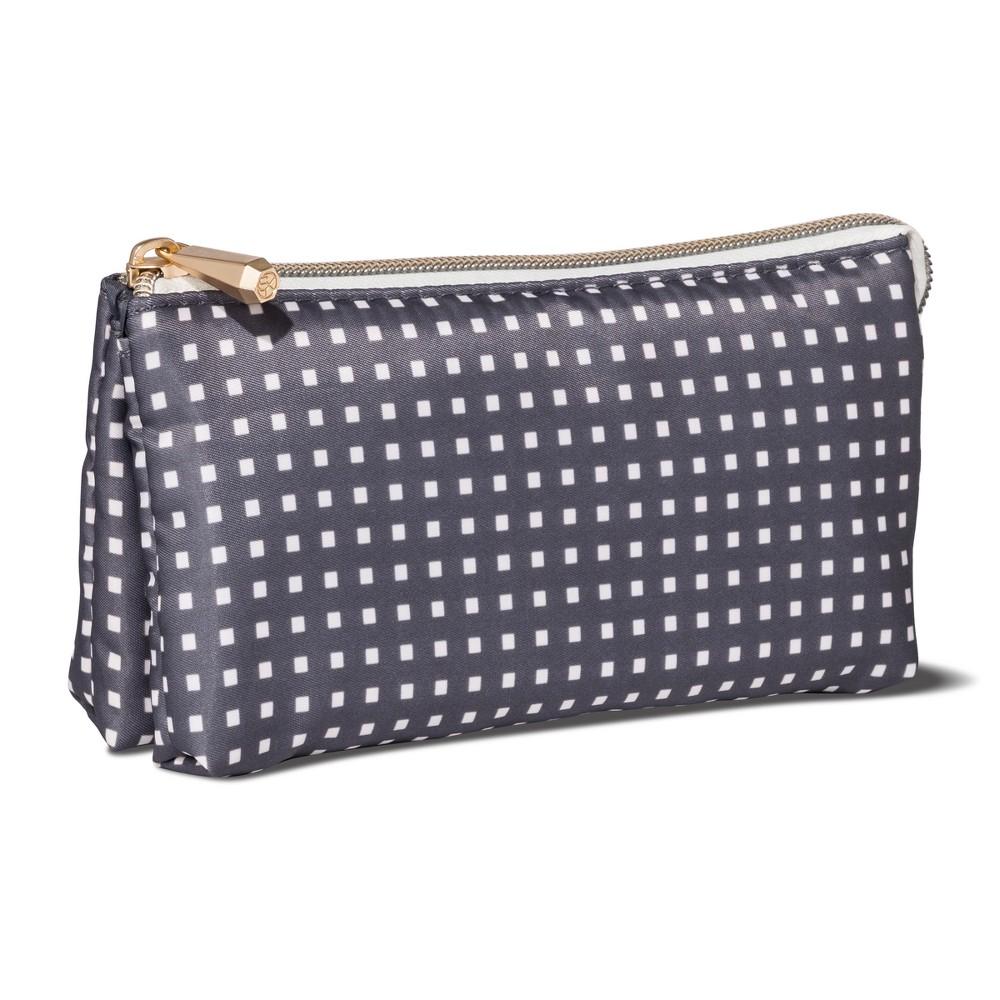Sonia Kashuk Cosmetic Bag Purse Kit Charcoal Squares