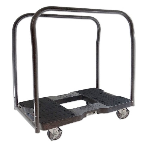 Snap Loc 1500 lb Capacity Industrial Strength E Track Panel Cart Dolly Black, Heavy Duty 4 in Polyurethane Swivel Non Marking Caster Wheels - image 1 of 4