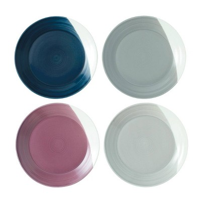 Royal Doulton 11.3  4pk Porcelain Bowls of Plenty Salad Plates White