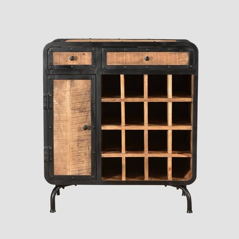 Carmine Modern Industrial Wine Rack Natural - Christopher Knight Home - image 1 of 4