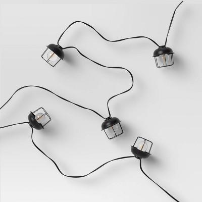 10ct LED Cage String Lights Black - Smith & Hawken™