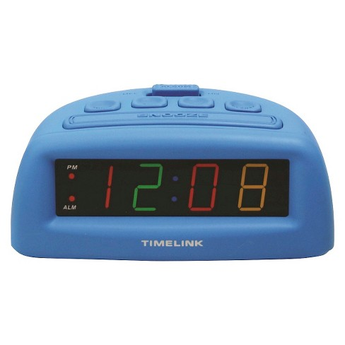 Digital Alarm Clock Blue - Timelink® - image 1 of 1