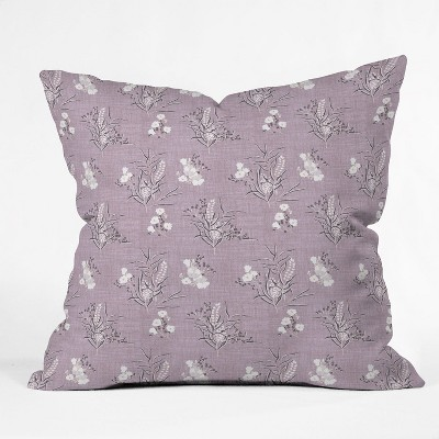 Holli Zollinger Boho Wild Square Throw Pillow Purple - Deny Designs