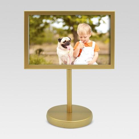 Pedestal Single Image Frame 4x6 - Brass - Project 62™ : Target