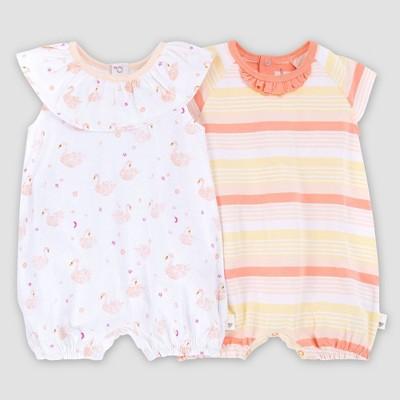 Burt's Bees Baby® Baby Girls' Organic Cotton 2pk Graceful Swan Bubble Set - Pink 12M