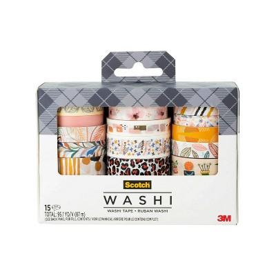 Scotch 15pk Expressions Washi Tape