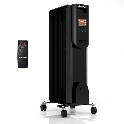 Costway 1500W Electric Oil Filled Radiator Heater LCD 7-Fin Timer w/ Remote Control