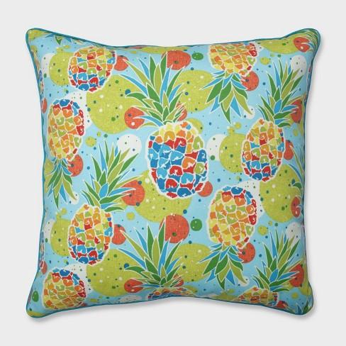 "25"" Hala Kahiki Tropic Blue Floor Pillow Blue - Pillow Perfect - image 1 of 1"