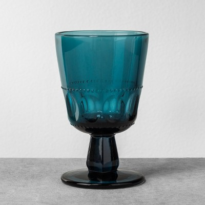 Glass Goblet Blue - Hearth & Hand™ with Magnolia