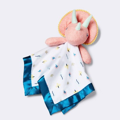 Small Security Blanket Pink Dino - Cloud Island™ Pink/Blue