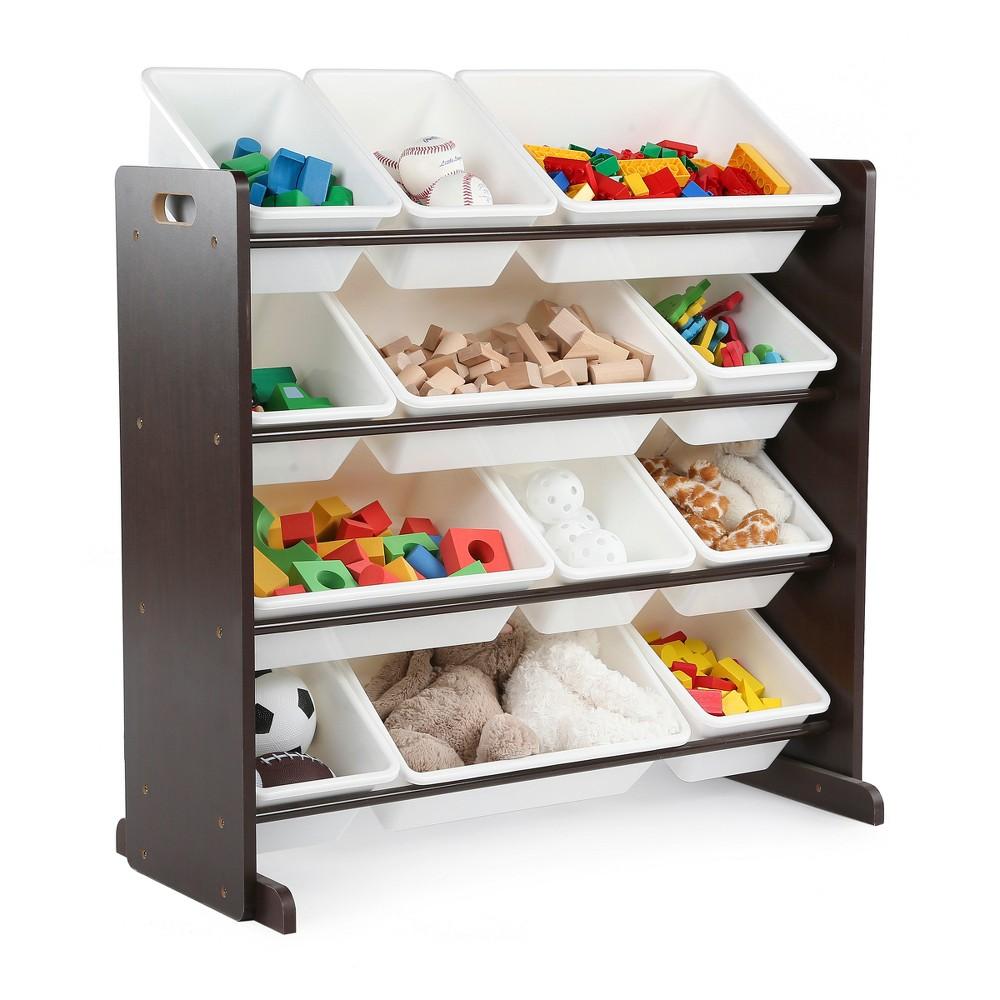 Modern Classics Toy Organizer - Espresso - Tot Tutors, Espresso Brown