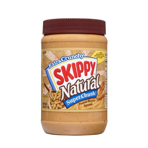 Skippy Natural Chunky Peanut Butter - 40oz - image 1 of 4