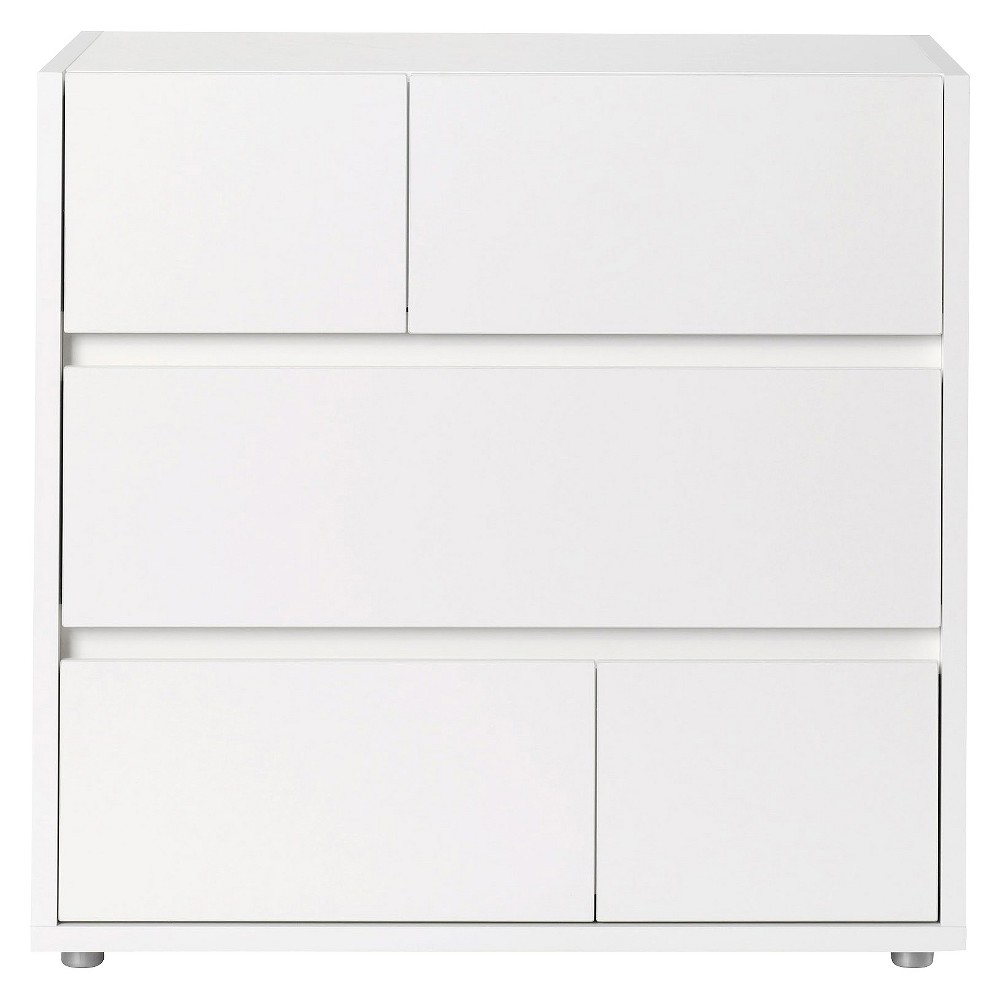 Vision 3 Drawer Chest White - Tvilum