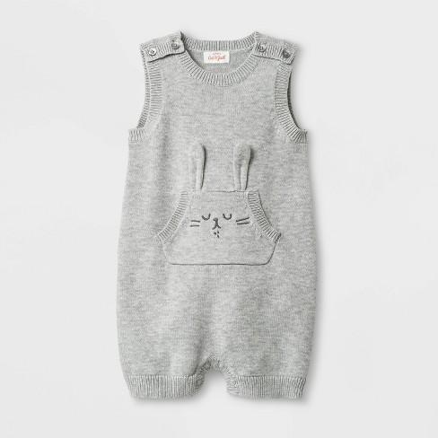 1562448ff7d1 Baby Boys  Bunny Sweater Romper - Cat   Jack™ Heather Gray   Target