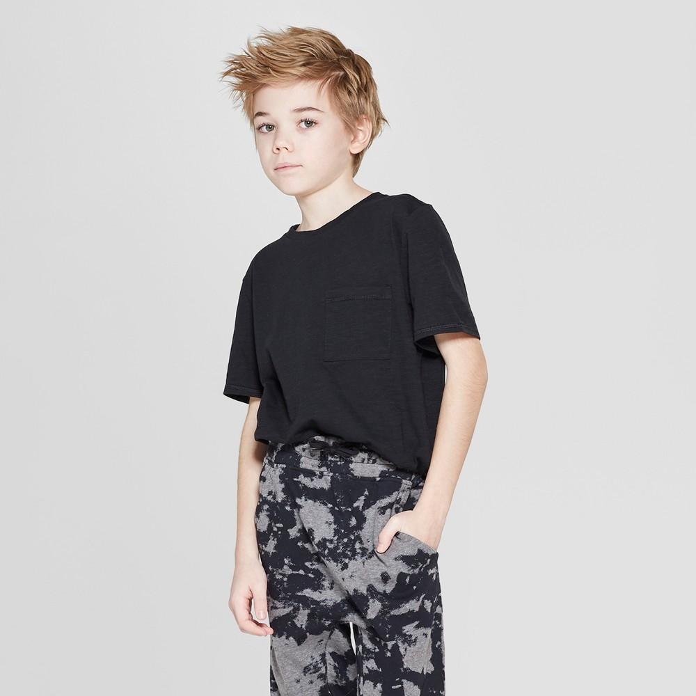Boys' Short Sleeve Curved Hem T-Shirt - art class Black Xxl