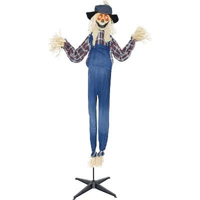 "79"" Halloween Animated Standing Scarecrow"