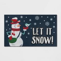 """1'6""""X2'6""""/18""""X30"""" Let It Snow Doormat - Wondershop™"""