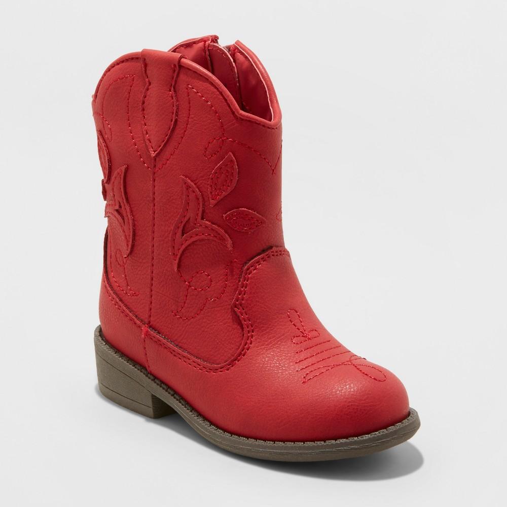 Toddler Girls' Arizona Cowboy Boots - Cat & Jack Red 7
