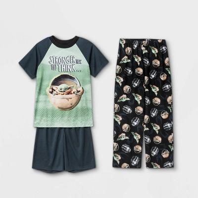 Boys' Star Wars The Child 3pc Pajama Set - Gray/Black